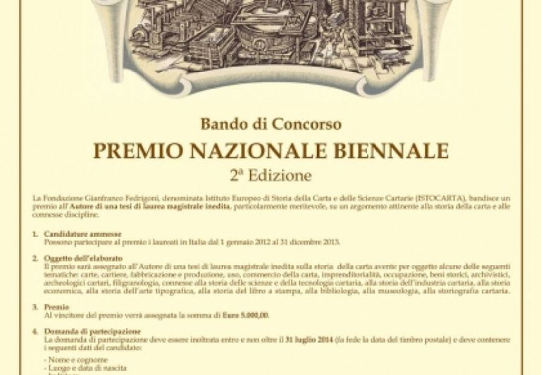 2° EDITION of National Biennal Price 2014