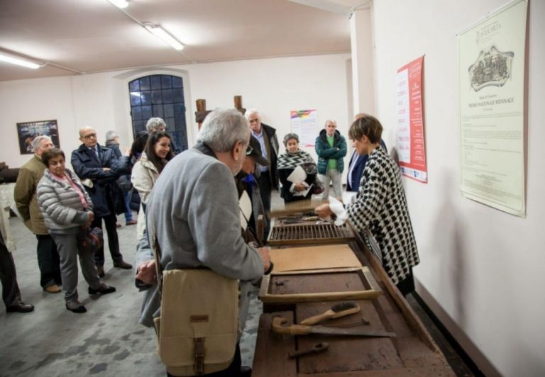 Visit to the new storage room of Historical paper Heritage of Miliani Fabriano Paper Mills