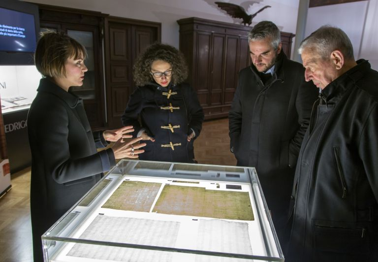 The visit of Gabriele Santarelli (Fabriano Mayor) and Ilaria Venanzoni (Councilor of Culture)