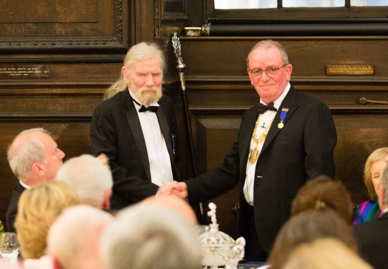 The prizegiving - Peter Bower and Nick Steidl
