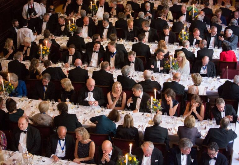 The dinner in the Stationers' Hall