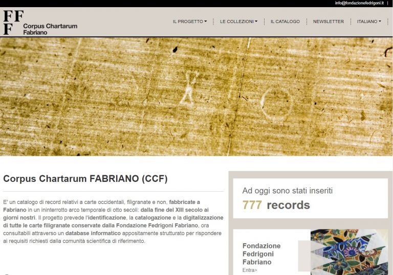 Il Corpus Chartarum FABRIANO tra le digital collections europee