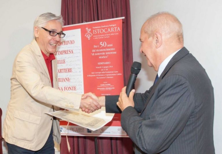 Delivery of HONORARY Member certificate to Prof. Terenzio Baldoni