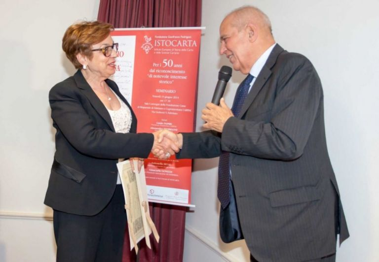 Delivery of HONORARY Member certificate to Prof. Silvana Canestrari