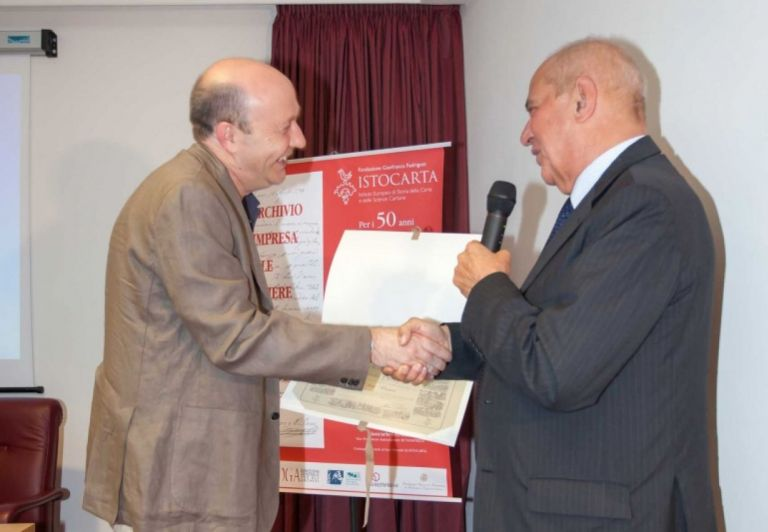 Delivery of HONORARY Member certificate to Prof. Francesco Chiapparino