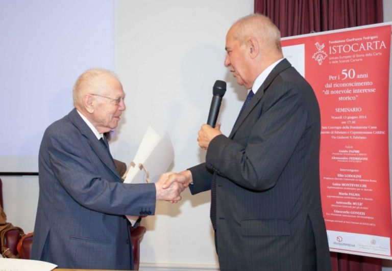 Delivery of HONORARY Member certificate to Prof. Elio Lodolini