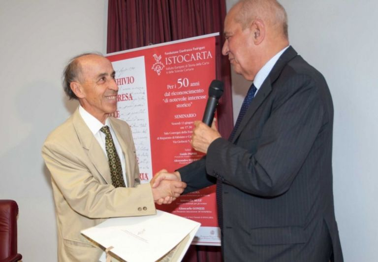 Delivery of HONORARY Member certificate to Prof. Gabriale Metelli